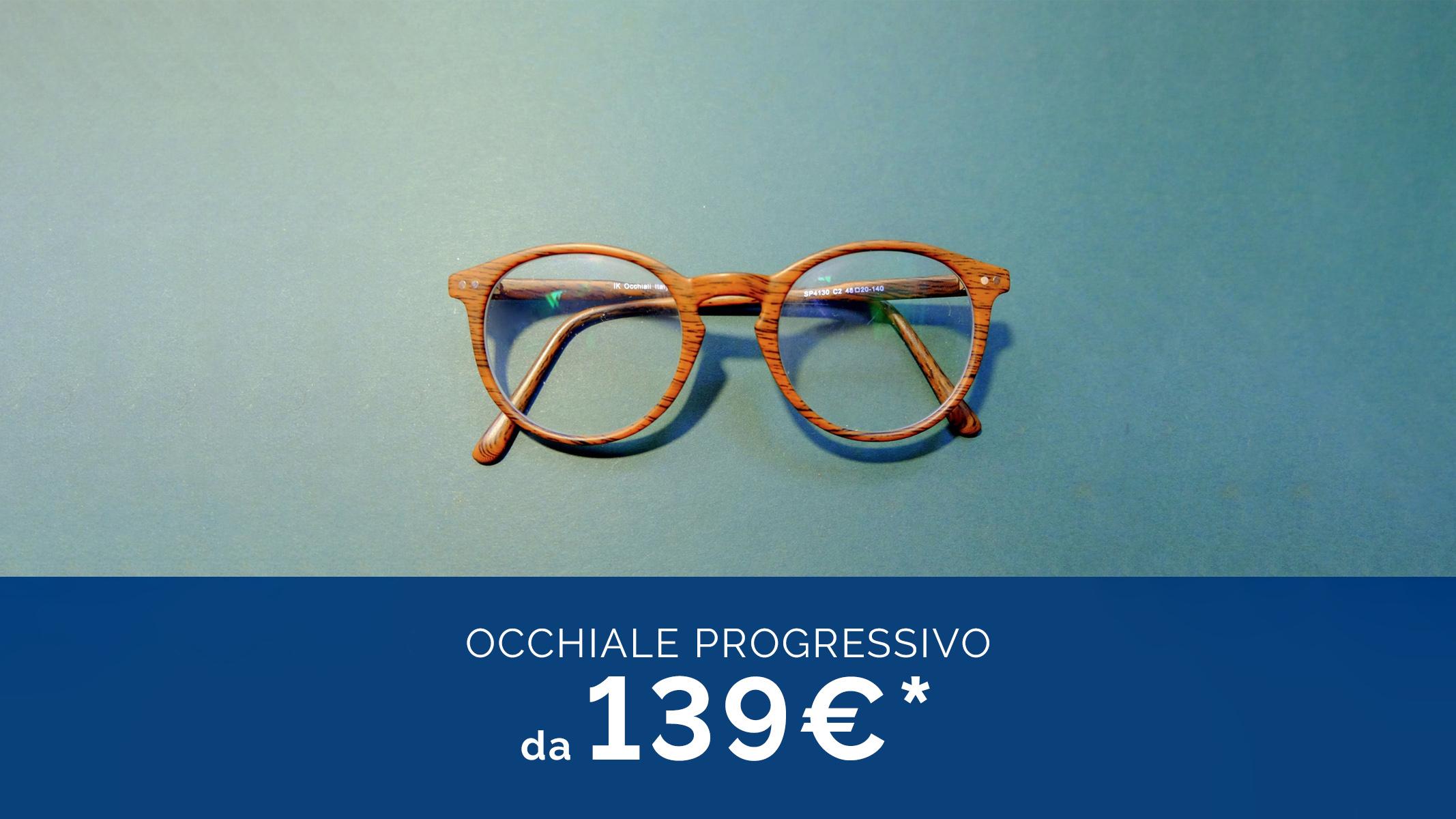Solo a giugno e luglio: occhiali con lenti progressive da soli 139€